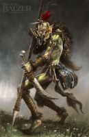 Orcquest - Hunter Orc - (c) Maze Games by helgecbalzer
