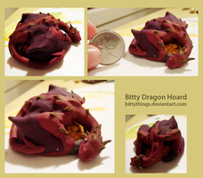 Smaug inspired Dragon Hoard by Bittythings