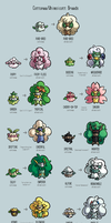 Cottonee/Whimsicott Variations by PrinceofSpirits