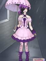 Lolita In The Rain: Pinks And Purples by Swolfmoon
