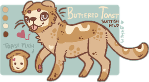 [Adopt - closed] Buttered Toast by lithxe