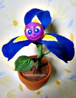 Blue Iris Clay Flower by MeadowDelights