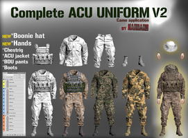*OUTDATED* Complete ACU uniform V2 by Harbard1