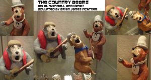 Country Bear Jamboree Sculpts by ultrafishbulb