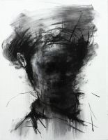 [105] Untitled Charcoal On Canvas 53.2 X 41 Cm by ShinKwangHo