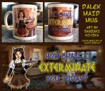 Dalek Maid Mug by kojika