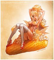 Hot buttered popcorn gal by MortMorrison