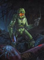 Master Chief- Mark 6 by jaxxblackfox