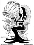 #INKtober 14. Morticia and Audrey 2 by AxelMedellin