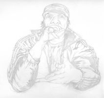 KRS ONE sketch by MarshallPlex