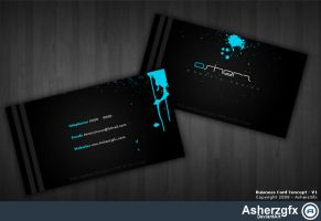 Buisness Card Concept - V1 by asherzgfx