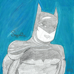 Batman B/W Cartoon by StormCat16