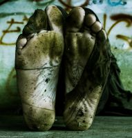 Filthy Soles in Abandoned Building 1 by 365feet
