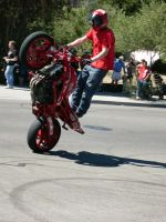 Stunt Riders at Car Show - 3 by RoadTripDog