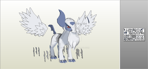 Mega Absol papercraft by Everton11