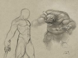 sketch fight by PeppeTi