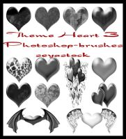 Theme Hearts 3 Photoshop brush by seiyastock