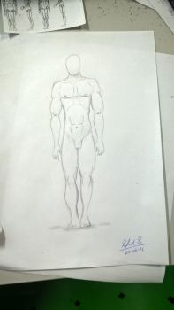 My first hand drawing of the human body by Rafagafanhotobra