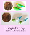 Budgie Earings - SOLD by Bittythings