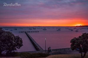 Griffiths Gully Jetty Sunrise by DanielleMiner