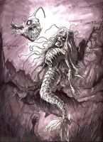 Deep Sea MERMAID ZOMBIE and Co by BaneNascent