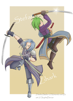 Swordmaster Duo by ScytheDancer