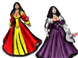 Reina de la Pirata dresses by johnnyharadrim