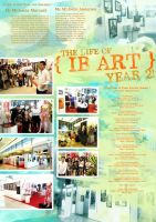 IB Art Yearbook Page by feenixfly