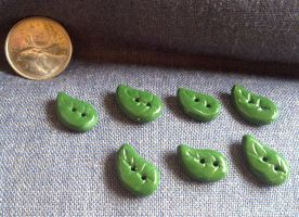 Leaf Buttons by Faery-Essences