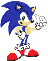 My first vector of Sonic The Hedgehog. by Flutterflyraptor