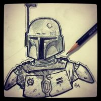Boba Fett - Daily Sketch by Geekincognito