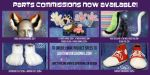 Parts Commissions OPEN! by LobitaWorks
