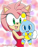 Amy and Her New Friend by Aamypink
