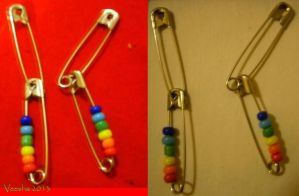 Safety Pin Earrings by Veesha