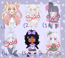 Adoptables Batch 3 - One Left! by PrinceShiroko