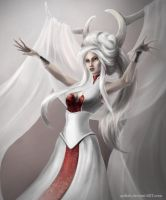The White Queen (close-up) by Aydiah