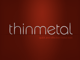 Think Metal Text Effect by SET07