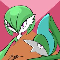 Gardevoir and Gallade by OctoberReign