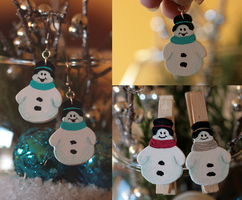 Snowman Collection I by ginkgografix
