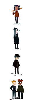 Night in the woods characters as humans by ChloesImagination