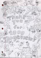 thank you for 1,000 page views by ferret2honey