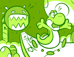 Game Boy Yoshi by JamesmanTheRegenold