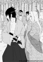 SasuSaku first meeting Flower and Sword. by byBlackRose