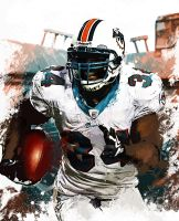 Ricky Williams Madden Custom Cover by RushLightInvader