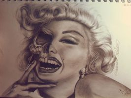 Beautiful Marilyn Monroe Drawing by CassandraWilson