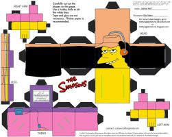 Simpsons5: Otto Mann Cubee by TheFlyingDachshund