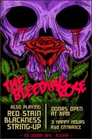 Bleeding Rose - Flyer Design by uberdiablo-pixels