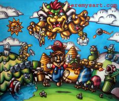 Super Mario Bros by jeremys-art