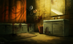 DAY 215. Bathroom lol (30 Minutes) by Cryptid-Creations
