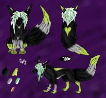 Scene wolf/dog/fox adoptable | 7 points (Closed) by Crystal-WolfDarkness